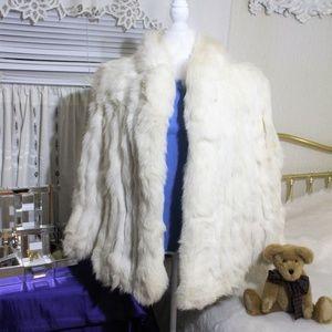 Glorious Vintage Saga Mink white Fur Coat